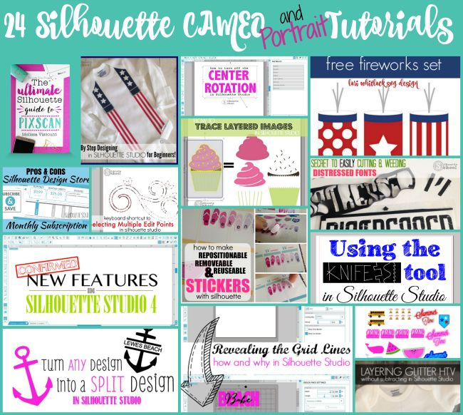 24 Silhouette CAMEO (And Portrait) Tutorials from Silhouette School | Silhouette School | Bloglovin'
