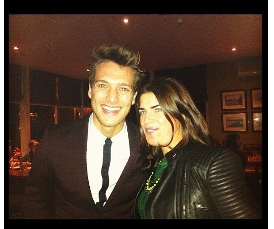 Meeting Paolo Nutini - what I wore; Zara leather jacket, Penneys aran knit & necklace
