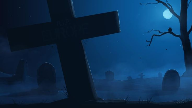 Inspired by Wallace and Gromit, I made this illustration. I call itThe Graveyard. You can find a little joke on the tombstone :)