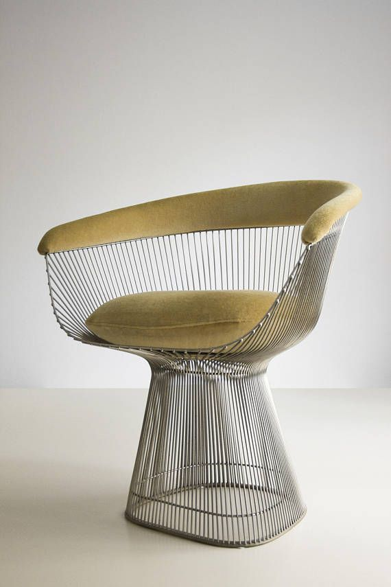 The Iconic Dining Chair From Warren Platner Nickel Coated Metal