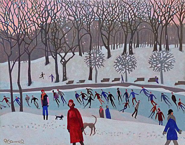 Jacques HAMEL - Les patineurs du Parc Lafontaine, Montréal