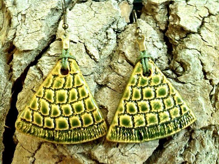 Ékszerek zöld csipkére / Green lace jewelry