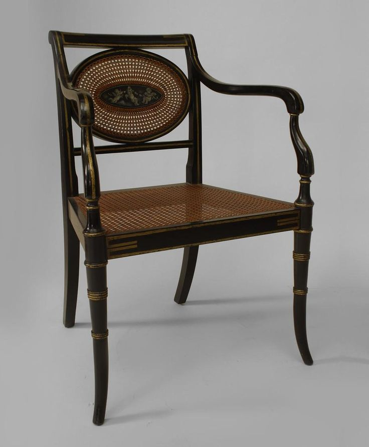 English Regency seating chair/set lacquer