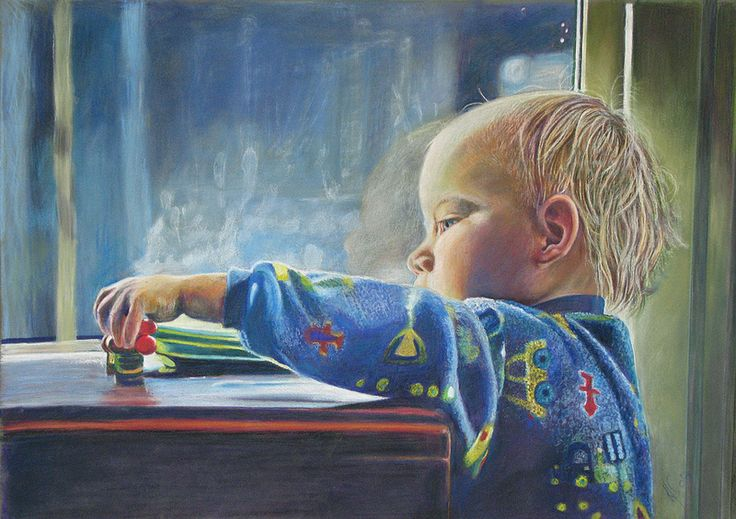"""""""Fingerprints"""" - portrait of my grandson in his morning routine making sure all of his toys are where he left them!"""