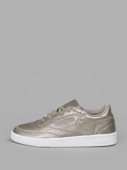 Reebok C85 Club Sneakers In Gold | ModeSens