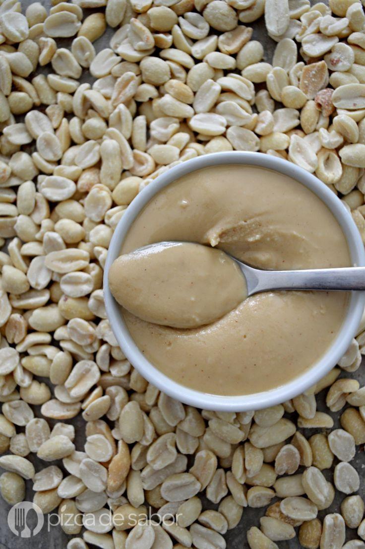 Crema de cacahuate o maní – peanut butter www.pizcadesabor.com