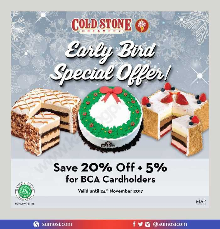 @ColdStoneIndo Seasonal Cake : Quilted Coffee Caramel – Early Bird Special Offer Save 20% Off + 5% for BCA Cardholders @KartuKreditBCA @BankBCA https://sumosi.com/restaurant/cold-stone-new-seasonal-cake-quilted-coffee-caramel-early-bird-special-offer-save-20-off-5-for-bca-cardholders-702  #Promosi #promo #RT #followme yuk #MissUniverse #TheBestPol #DGITM #Cuaca #RoadtoSailSabang2017