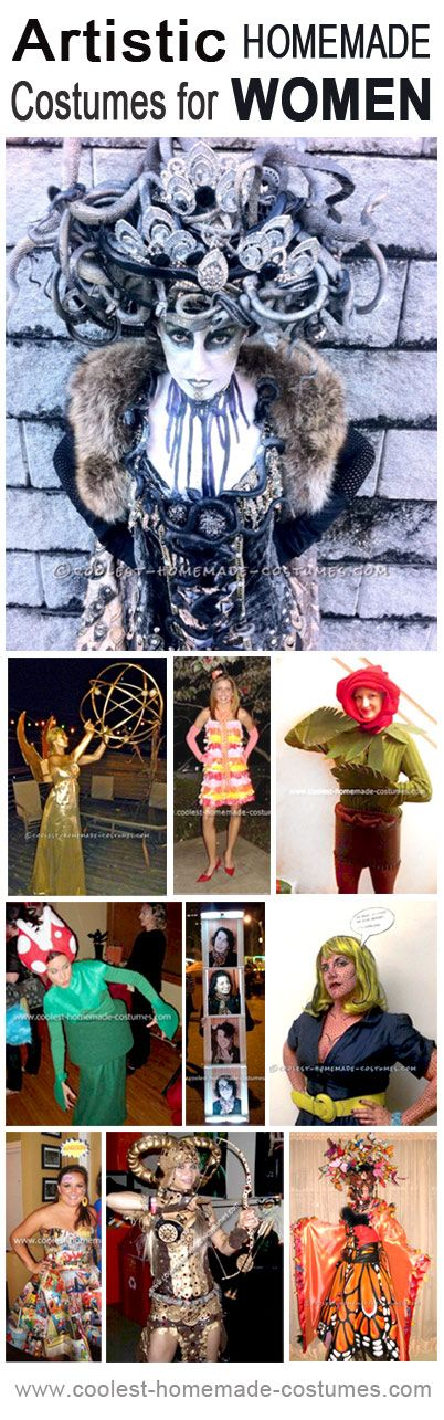 Awesome Artistic Homemade Costumes for Women… Enter the Coolest Halloween Costume Contest at http://ideas.coolest-homemade-costumes.com/submit/