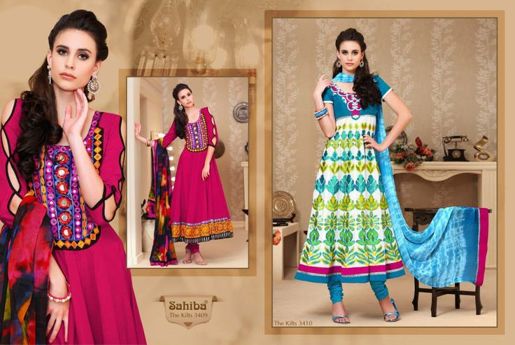 www.sahibafabrics.com Follow the link #beautiful #indianfashion #indian #anarkali #fashion #elegant