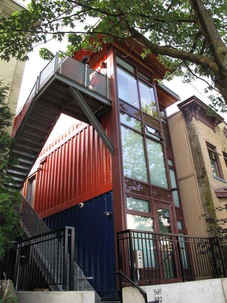 container apartment in canada