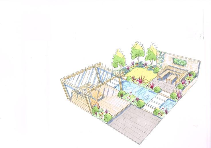 small town house garden design idea