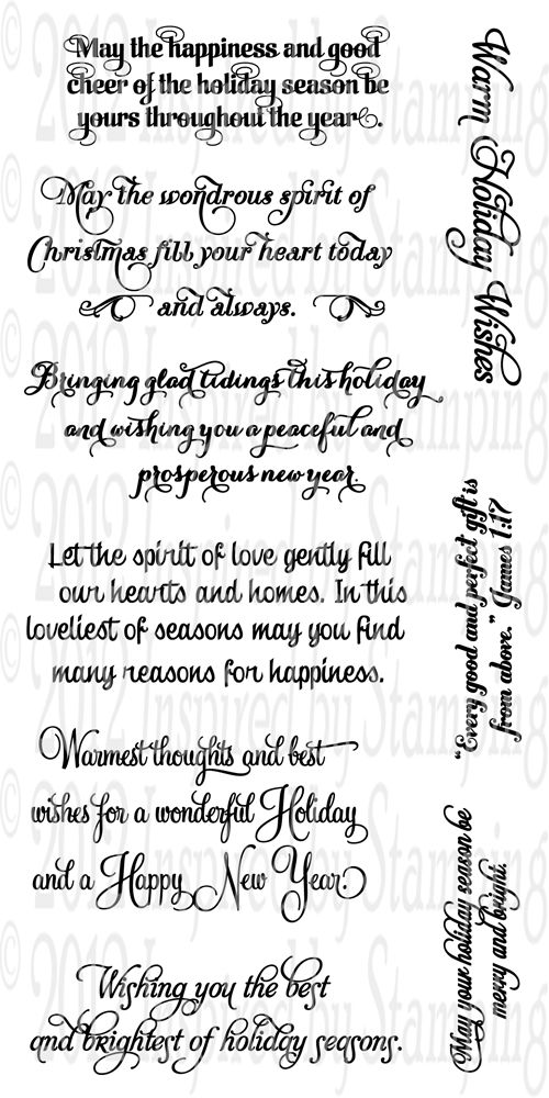Inspired by Stamping Holiday Expressions Stamp Set