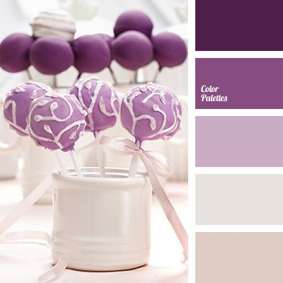 Shades of rich violet and soft lilac in contrast with milky tones create a moderately bright image. Anyone who prefers such palette for the interior of the