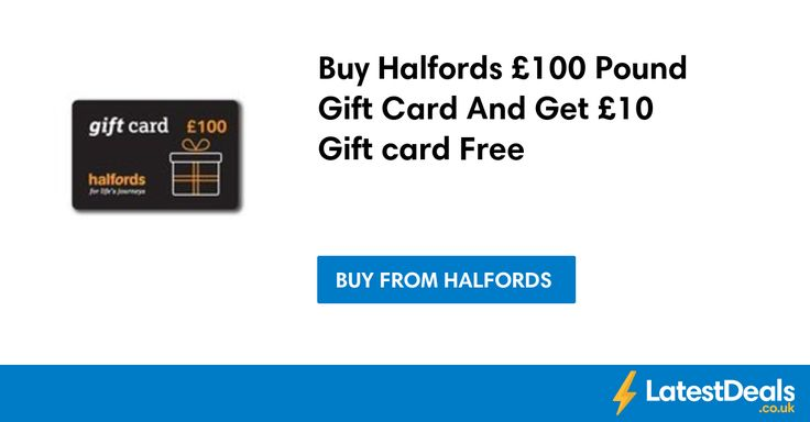 Buy Halfords £100 Pound Gift Card And Get £10 Gift card Free