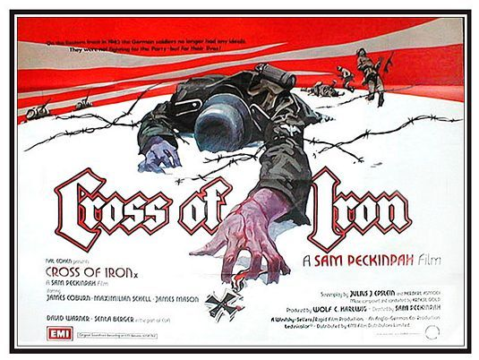 Cross of Iron movie poster.  The War Years online t-shirt and gift store turns military history into commemorative items