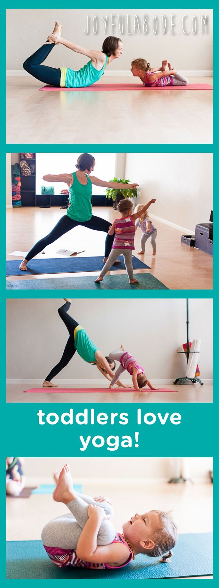 We love yoga for little ones  This toddler activity is a fun way to switch up your toddler playtime