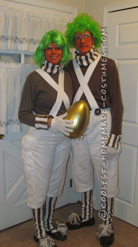 Cool Homemade Oompa Loompa Couple Costume...