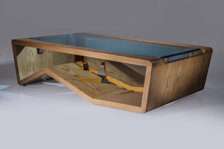 Table basse / design original / en verre / en bois TERRA G. Rios Furniture & Design