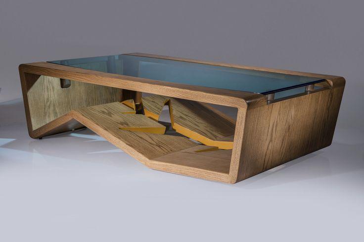 Table basse / design original / en verre / en bois TERRA G. Rios Furniture & Design