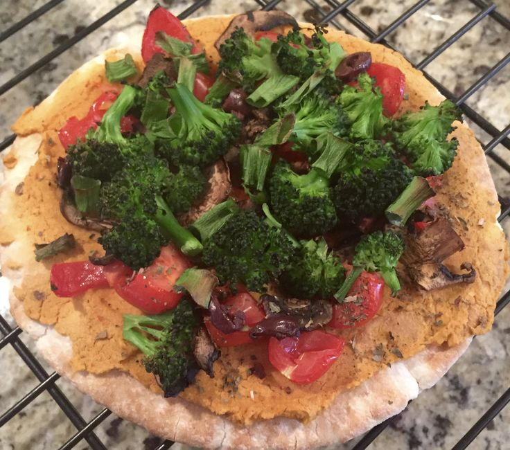 Vegan Pita Pizza. We love this recipe in my house. There's nothing better than everyone making their own personal pizza!