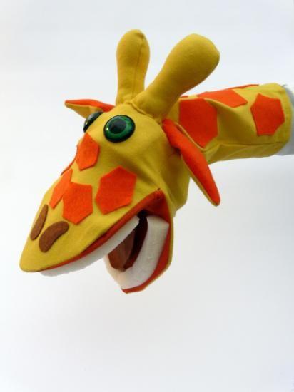 títere de guante de fácil manejo, jirafa, a partir de cuatro años