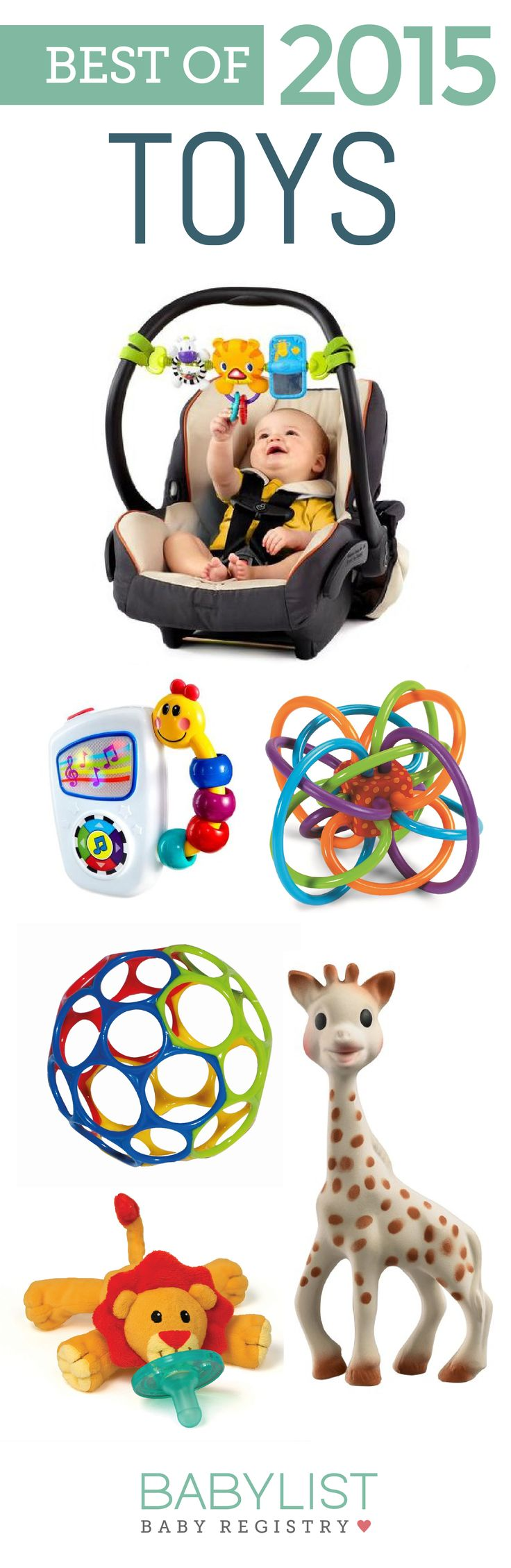 When trying to distract a fussy baby, the perfect toy can really come in handy. Fun and useful, here are our favorite toys of 2015!