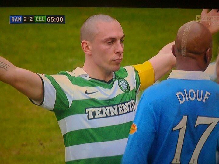 Scott Brown's goal victory toward Diouf #celticfc