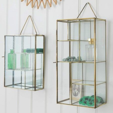 Glass Wall Racks - View All Furniture - Furniture (Graham & Greene) Instead of bed side tables if there is no room? might be a silly idea though