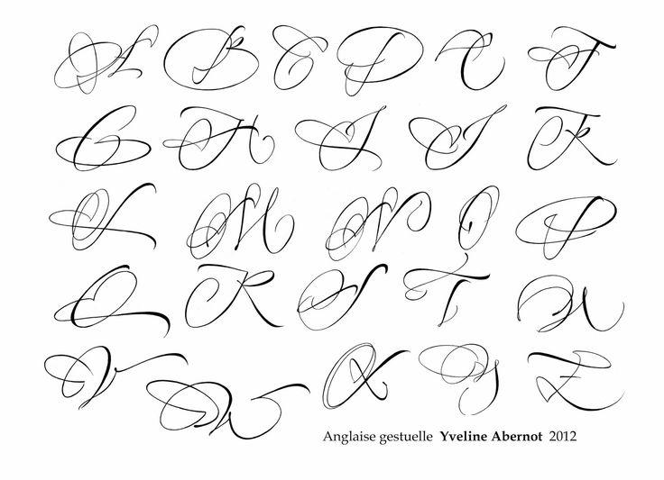 a majuscule calligraphie - Recherche Google