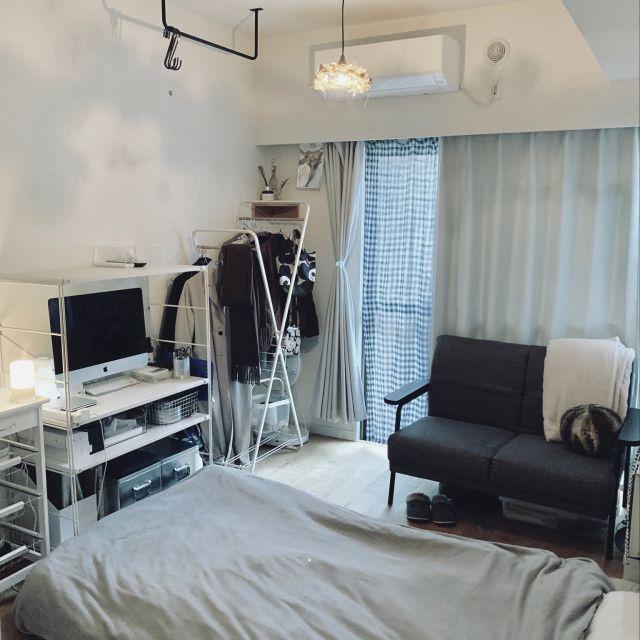 部屋全体 ダイソー 6畳1k 一人暮らし 賃貸 などのインテリア実例 2018 11 22 08 34 31 Roomclip ルームクリップ インテリア 1人暮らし インテリア 6畳 インテリア