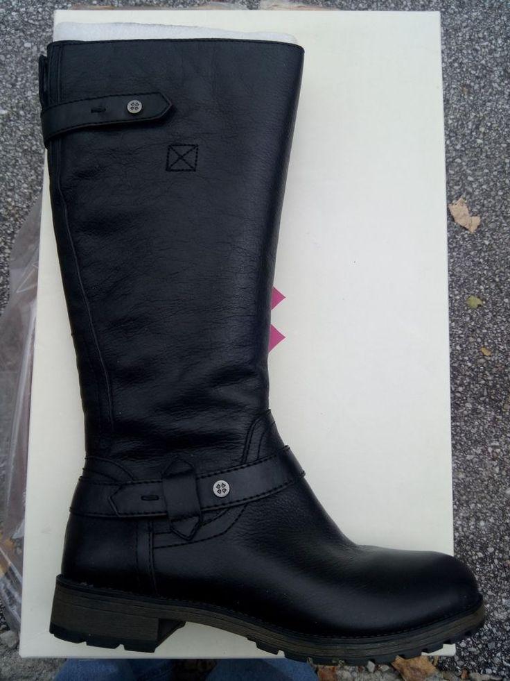 Naturalizer Womens Tanita Black Leather - Size 8 1/2 m Black Boot # Naturalizer