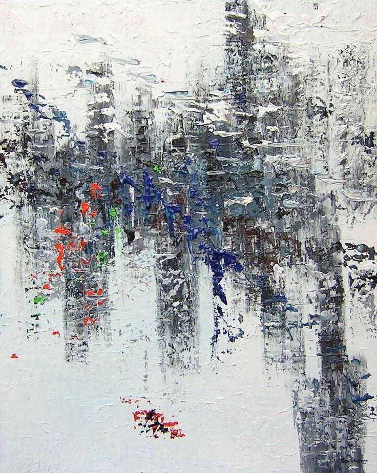 """Secret land"" 100x80x2 cm Acryl on canvas"
