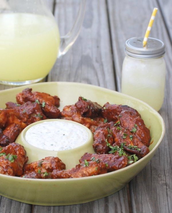 Ad: Grilled Bacon Chipotle Wings with Cilantro Ranch Dipping Sauce ...
