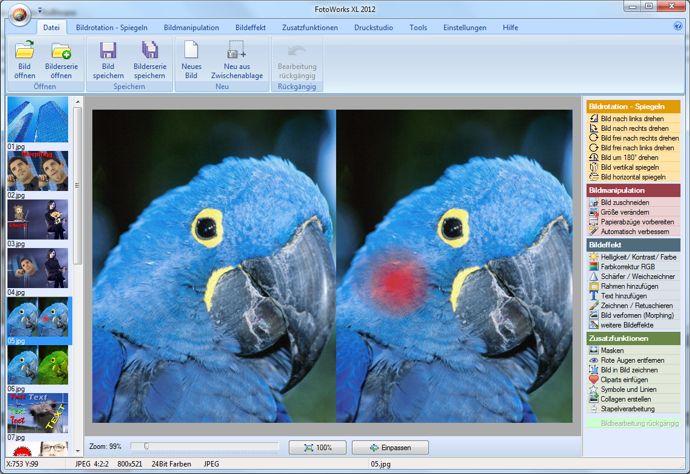 Retusche mit der Foto Software