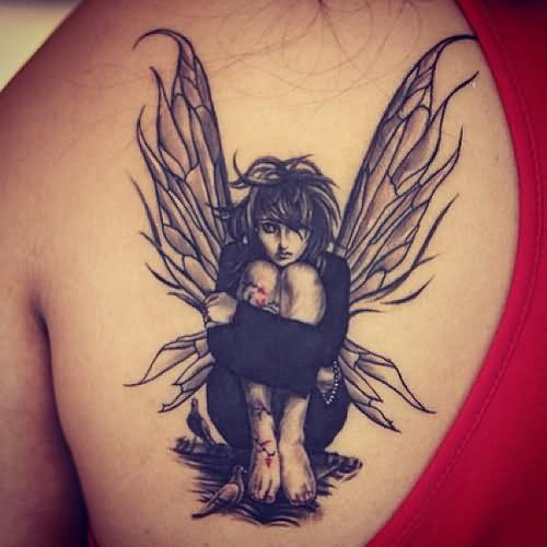 Attractive Tinkerbell Fairy Tattoo Designs
