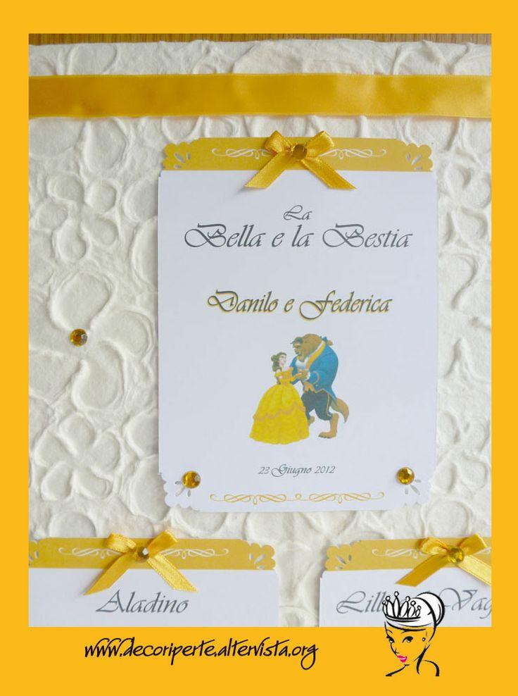 Walt disney fairy tales wedding theme seating plan - Tableau marque place mariage ...