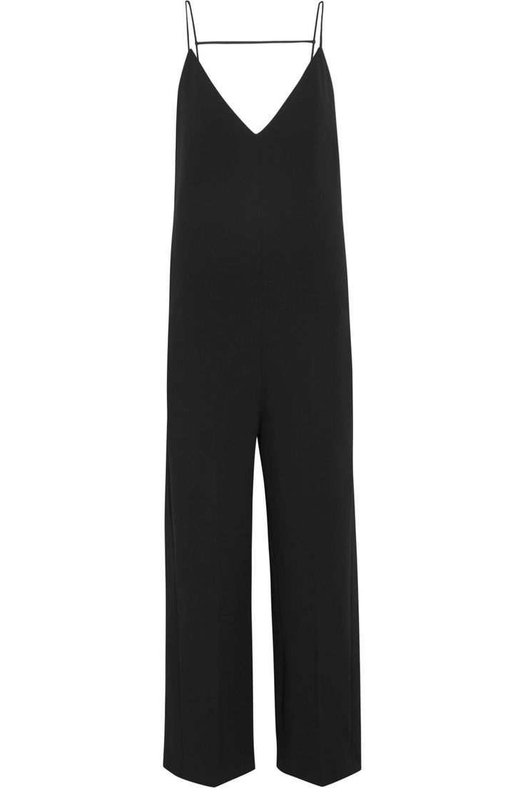 Shop on-sale Joseph Tish silk-trimmed crepe jumpsuit. Browse other discount designer Jumpsuits & more on The Most Fashionable Fashion Outlet, THE OUTNET.COM