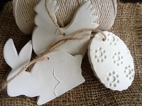 Clay Easter Hanging Ornaments - Set of 3 by MYMIMISTAR on Etsy