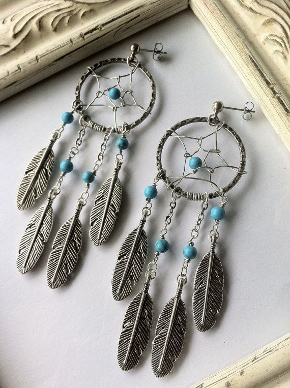 Native American Inspired Dream Catcher Earrings