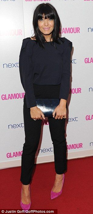 Claudia Winkleman does evening trousers