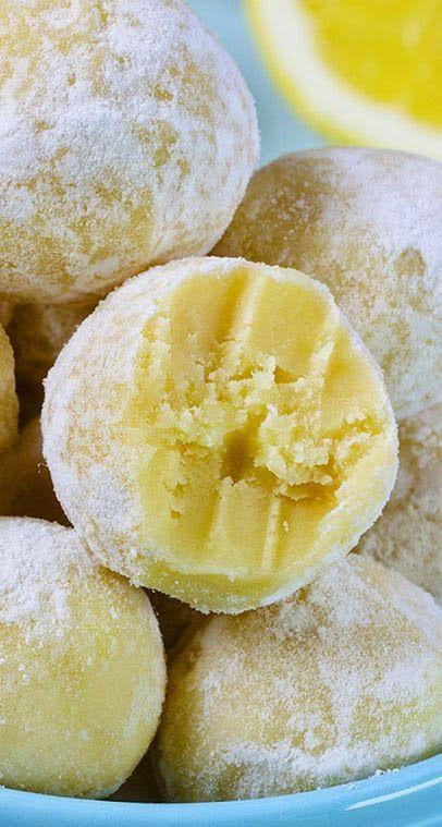 White Chocolate Lemon Truffles | I love this recipe!