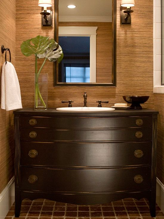 I LOVE the antique dresser vanity!  I will do this some day!