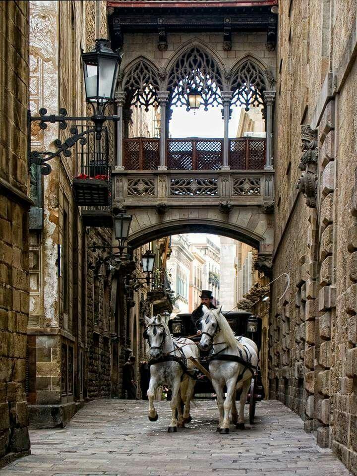 Carrer del Bisbe - Barcelona, Spain