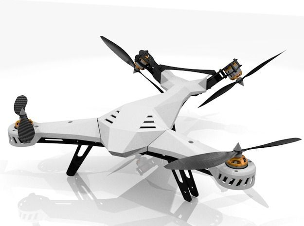 DiaLFonZo-Copter - VTail 400 V1 THREE PART KIT 3d printed Maybe something for 3D Printer Chat?