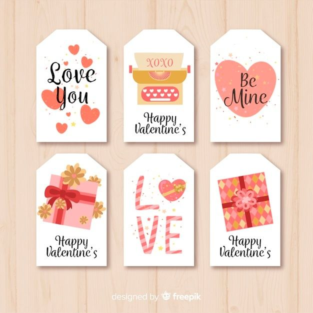 Download Valentines Day Card Collection For Free In 2021 Gift Tag Cards Valentines Day Card Templates Birthday Cards Diy