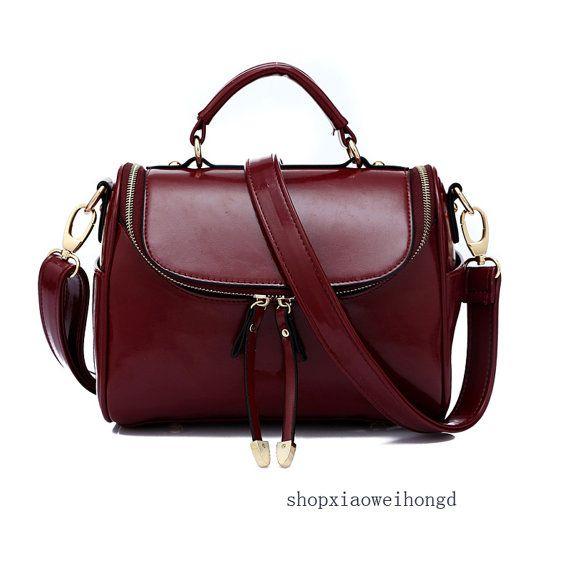 Handgefertigte Damen Leder Handtasche / shopping von xiaoweihong