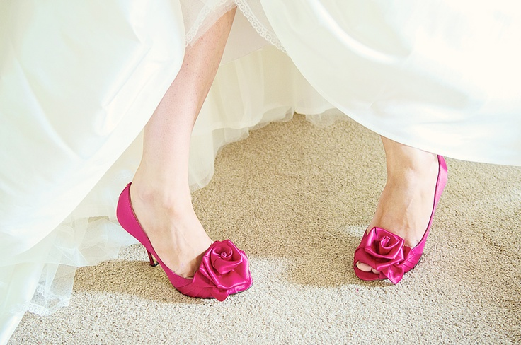 Hot pink wedding shoes- gorgeous in purple!