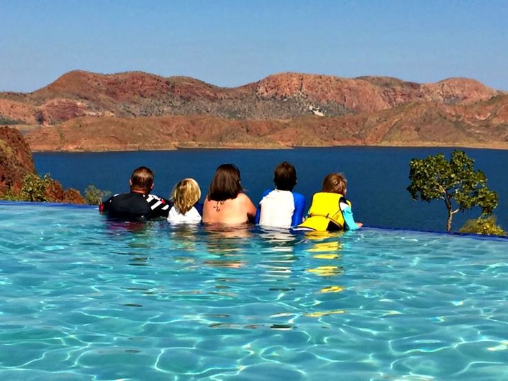 How's the serenity!?  The infinity pool at the Lake Argyle caravan park.