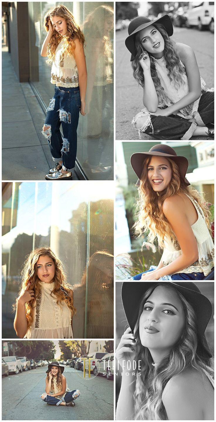 Senior Picture Ideas for Girls --- really like the top left