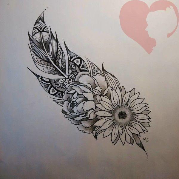 Bonus: Federn und Blumen und all die schönen Dinge! – 31 de… – Tattoo ideen –